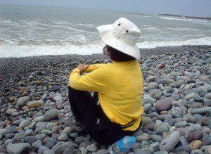 Barb at beach